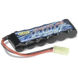 Carson 7.2V 1400mAh NiMH X-Pack Akku Mini Tamiya