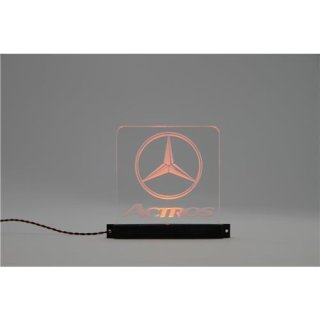 Acryl Schild Mercedes-Benz Actros beleuchtet blau