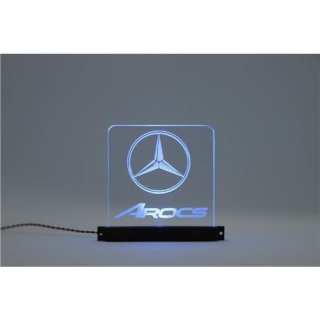 Acryl Schild Mercedes-Benz Arocs beleuchtet orange