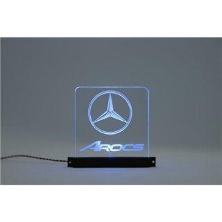 Acryl Schild Mercedes-Benz Arocs beleuchtet pink