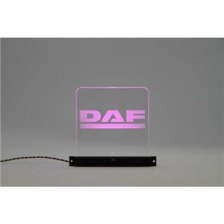 Arcryl Schild DAF beleuchtet pink