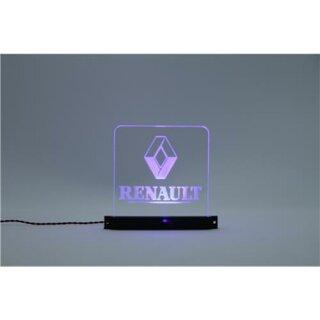 Arcryl Schild Renault beleuchtet