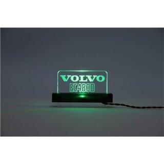 Arcryl Schild Volvo EC480D beleuchtet blau