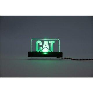 Arcryl Schild CAT beleuchtet blau