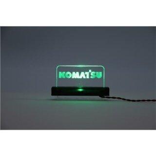 Arcryl Schild Komatsu beleuchtet grün