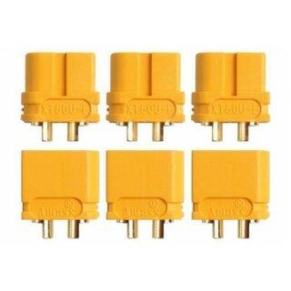 XT60U Stecker Buchse Goldkontakt paarweise 3 Paar