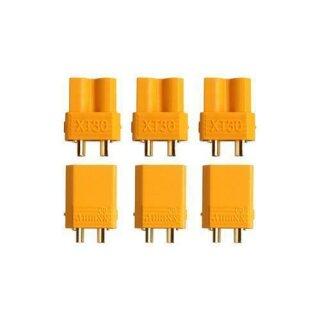 XT30U Stecker Buchse Goldkontakt paarweise 3 Paare