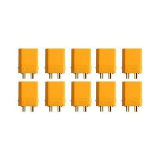 XT30U Stecker Goldkontakt einzeln 10 Stück