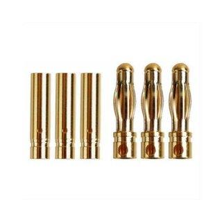 Ø4,0mm Goldstecker Stecker Buchse paarweise 3 Paare
