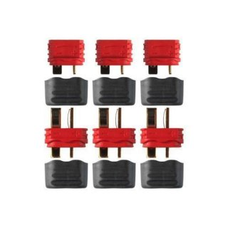Deans Ultra Plug mit Isolierkappe Stecker Buchse paarweise 3 Stück