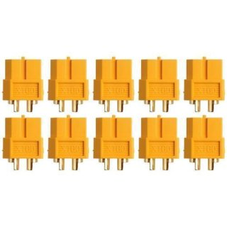 XT60 Buchse Goldkontakt einzeln 5 Stück