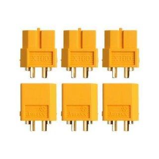XT60 Stecker Buchse Goldkontakt paarweise 5 Stück