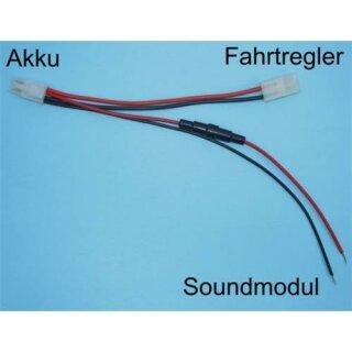 Beier Electronic Akku Y-Kabel mit Steckverbindung und Sicherungshalter V1 Tamiya Steckverbindung