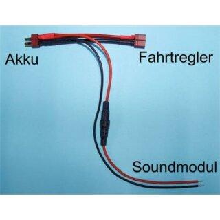 Beier Electronic Akku Y-Kabel mit Steckverbindung und Sicherungshalter V2 Deans Steckverbindung