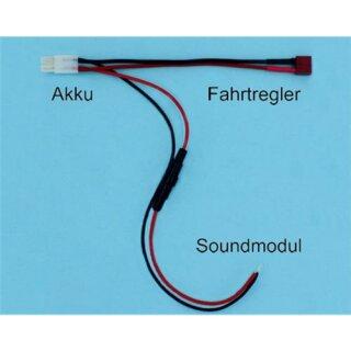 Beier Electronic Akku Y-Kabel mit Steckverbindung und Sicherungshalter V3 Tamiya & Deans Steckverbindung
