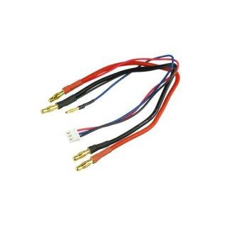 Akku Ladekabel Goldkontakt Ø4,0mm 2,5mm² für Hardcase-2S-LiPo XH