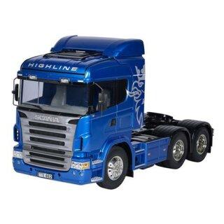 Tamiya 1:14 Scania R620 6x4 Highl.blau lack.